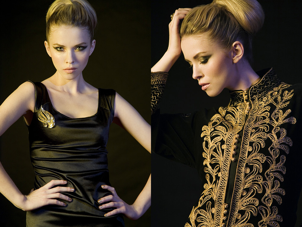 Photo: studio fashion black and gold