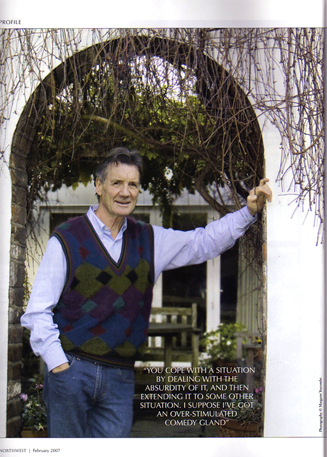 Portrait of Michael Palin for North West Magazine