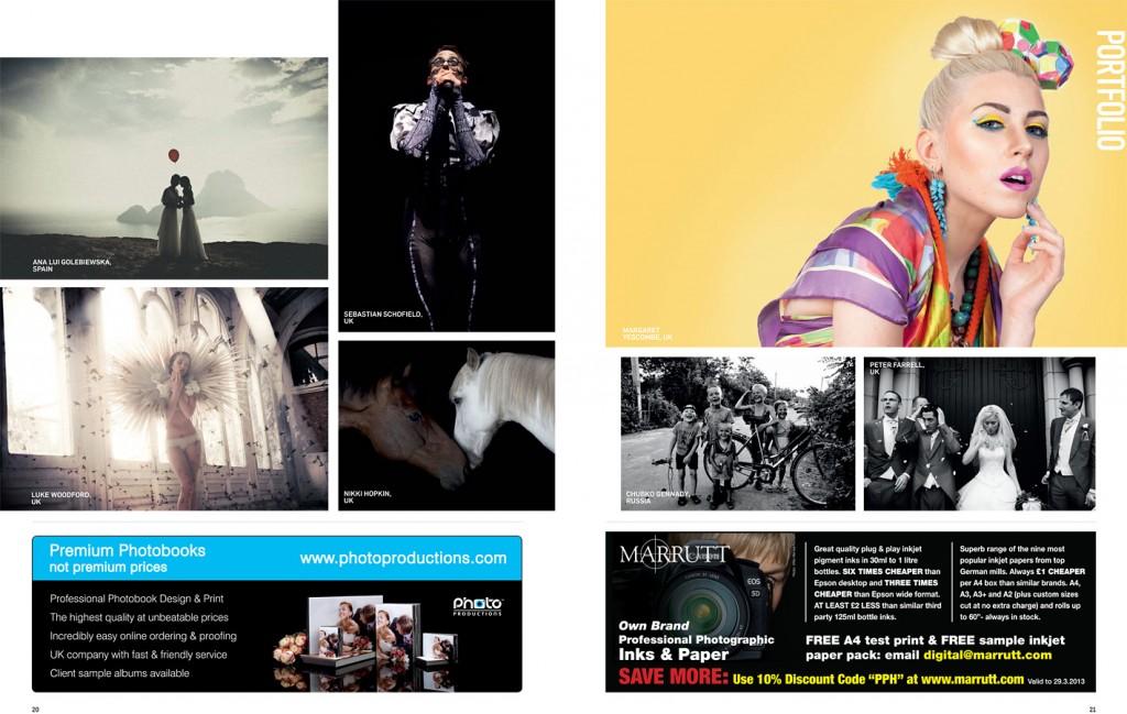 Photo: Professional Photographer Magazine, Portfolio pages, Yellow, Summer, Image by Margaret Yescombe, Studio Photographer & Retoucher London