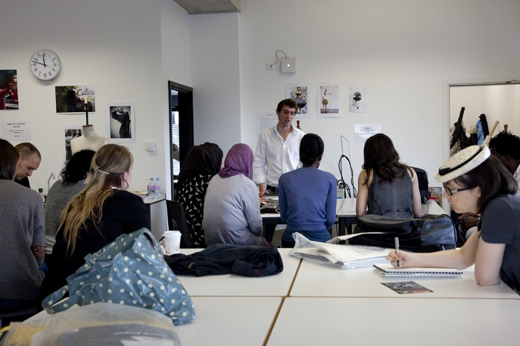 Photo: fashion designers classroom