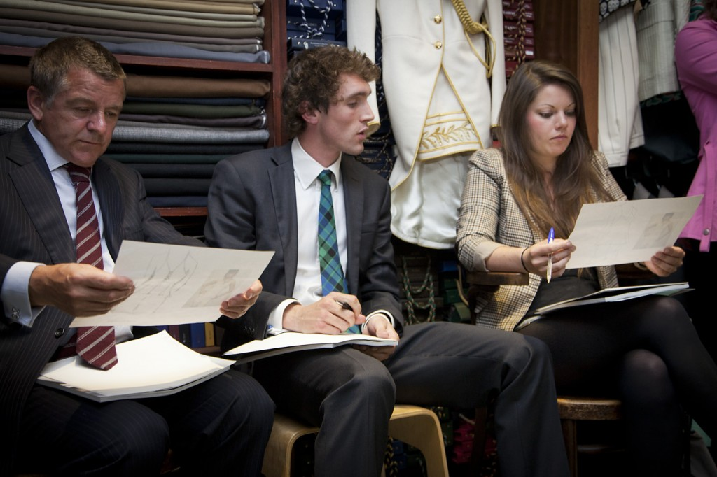 Photo: Savile Row London, fashion design judges, fashion design competition. Fashion Designer. Taylor. CEO. Photography by Fashion & PR Photographer London