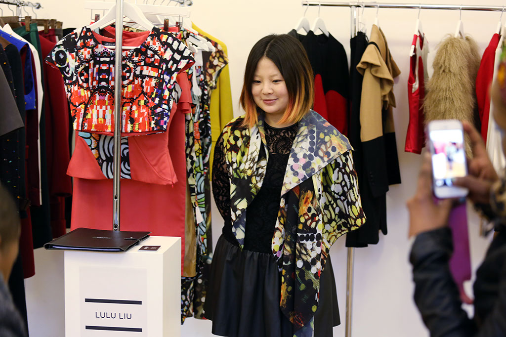 Fashion Scout Exhibition, Designer Lulu Liu, by Margaret Yescombe Photographers London