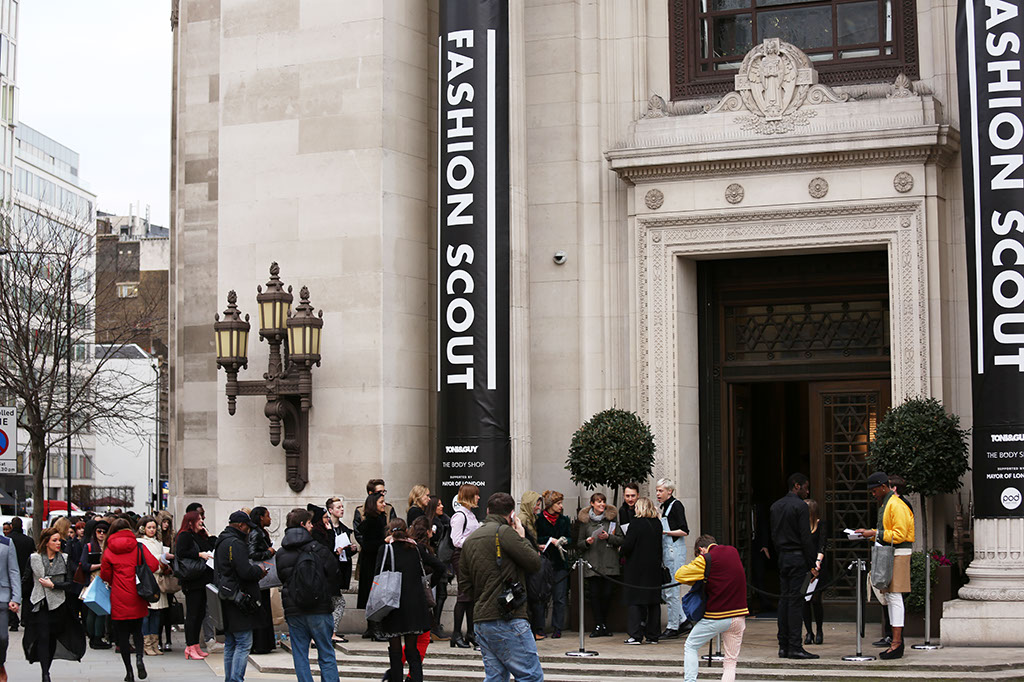 Fashion Scout London Entrance banners- Catwalk Photographer London