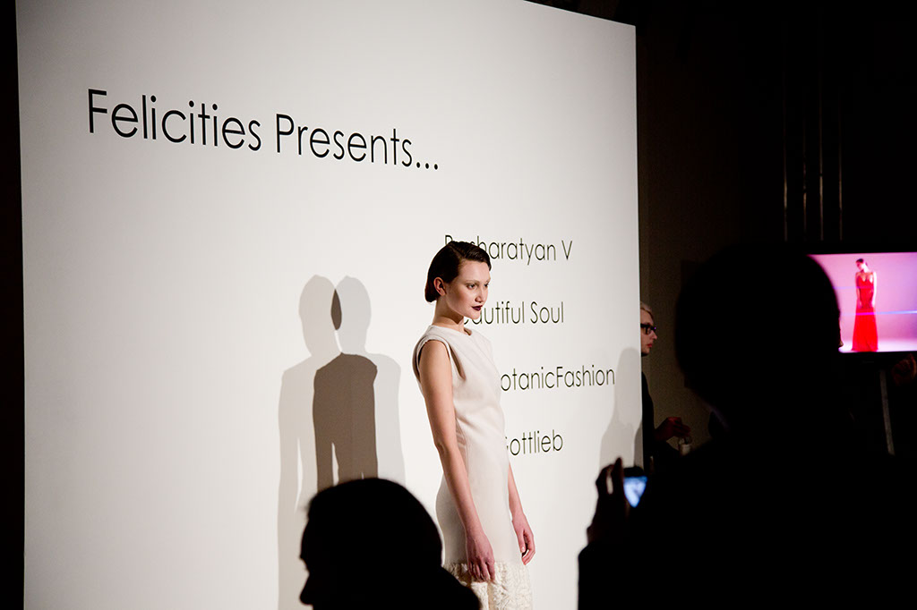 LFW Somerset House - Felicities PR Presents : Fashion Designers Collection on model
