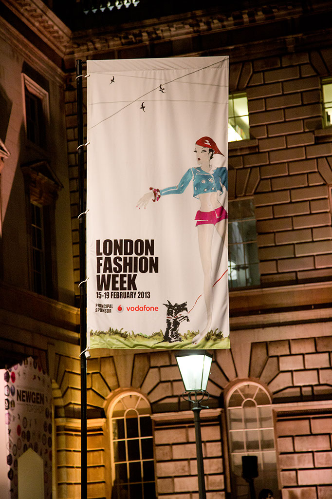 Photo: London Fashion Week - Somerset House : LFW banner