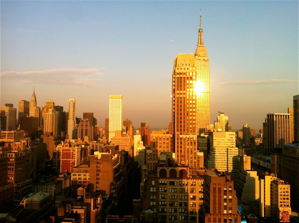 Photo: Empire states building, new york skyscraper, city sunset cityscape, image by British Photographer Margaret Yescombe
