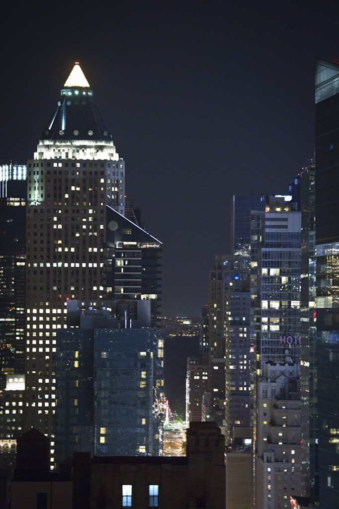 Photo: New York City Skyline Skyscrapers at night, by London Photographer Margaret Yescombe