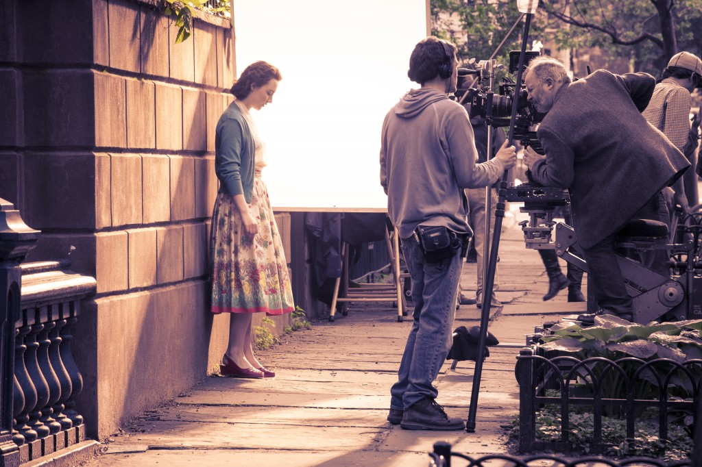 Photo: behind the scenes, Movie set photographer london, Irish actress, Saoirse Ronan
