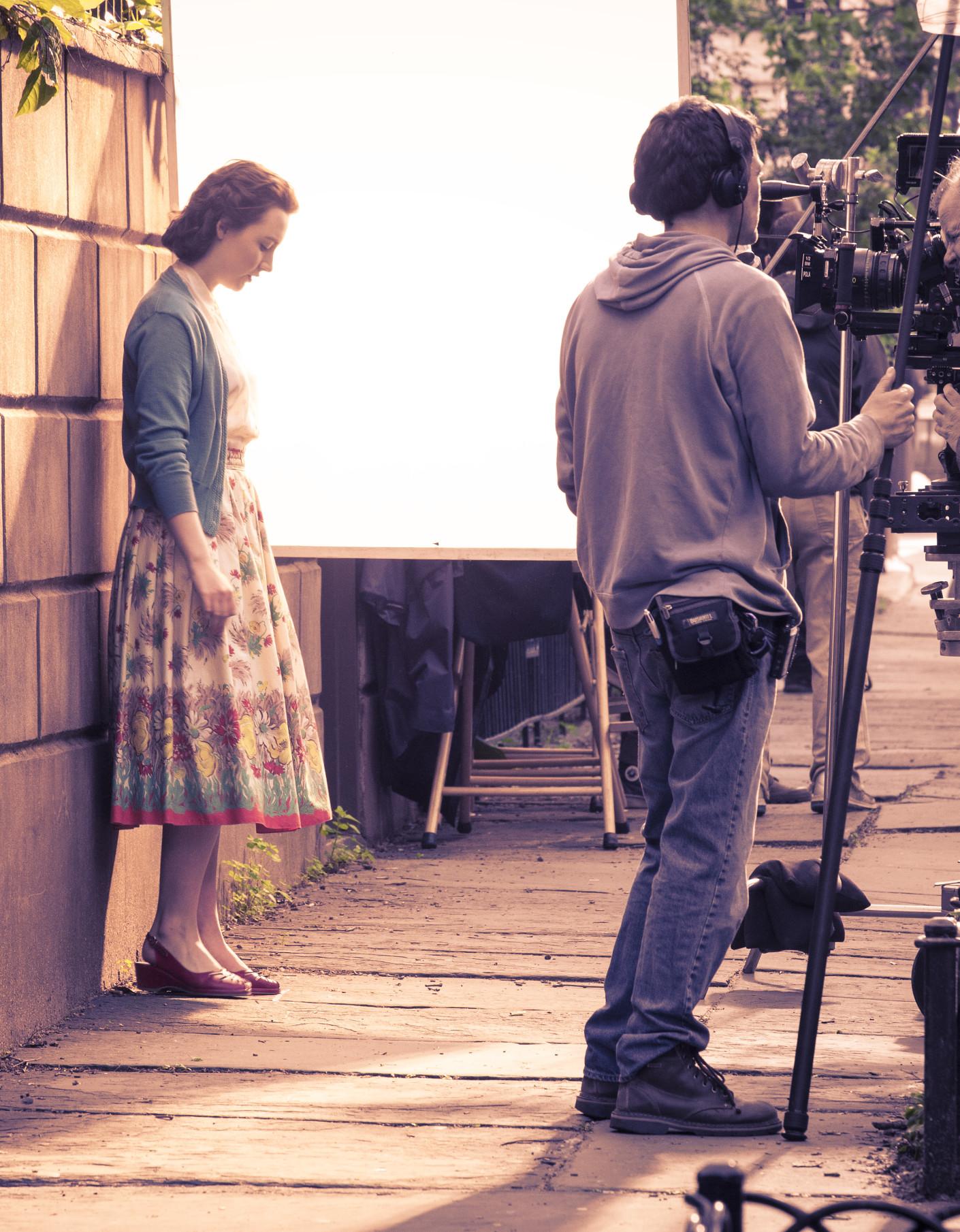 Photo: behind the scenes, Movie set photographer london, Irish actress, Saoirse Ronan