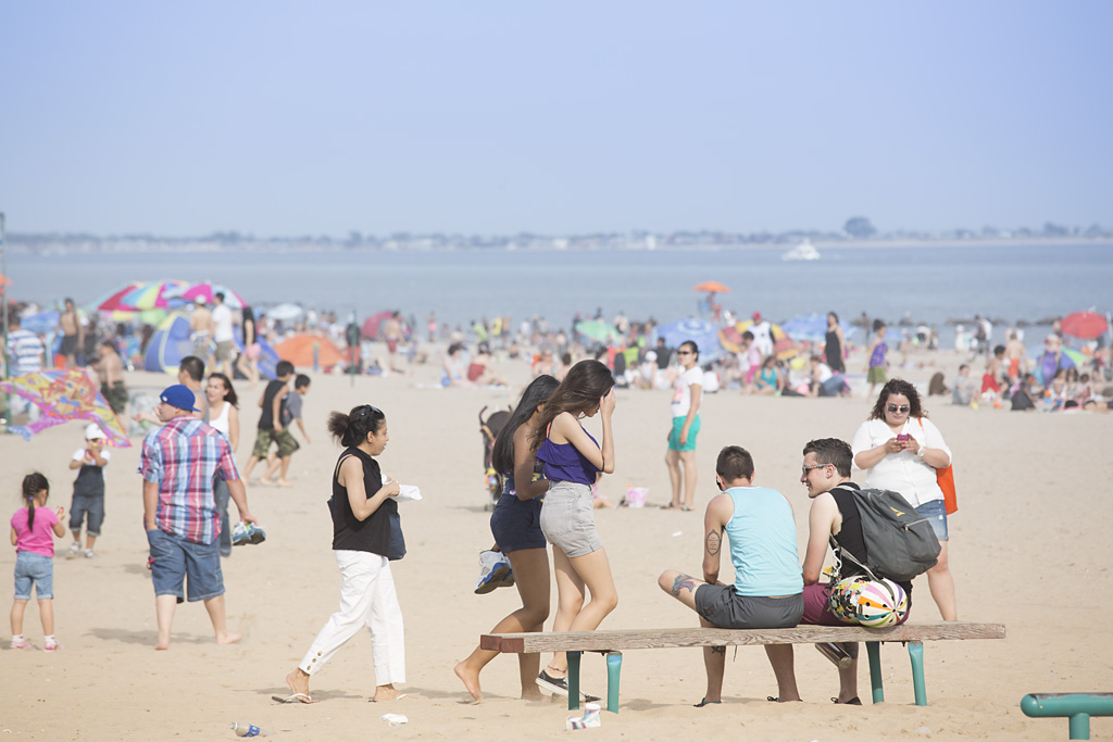 Photo: Coney Island Beach, Brooklyn, New York, beach re-opens, memorial day weekend, sun sea & sand, travel and documentary photography by fashion and pr photographer Margaret ( Maggie ) Yescombe, London UK