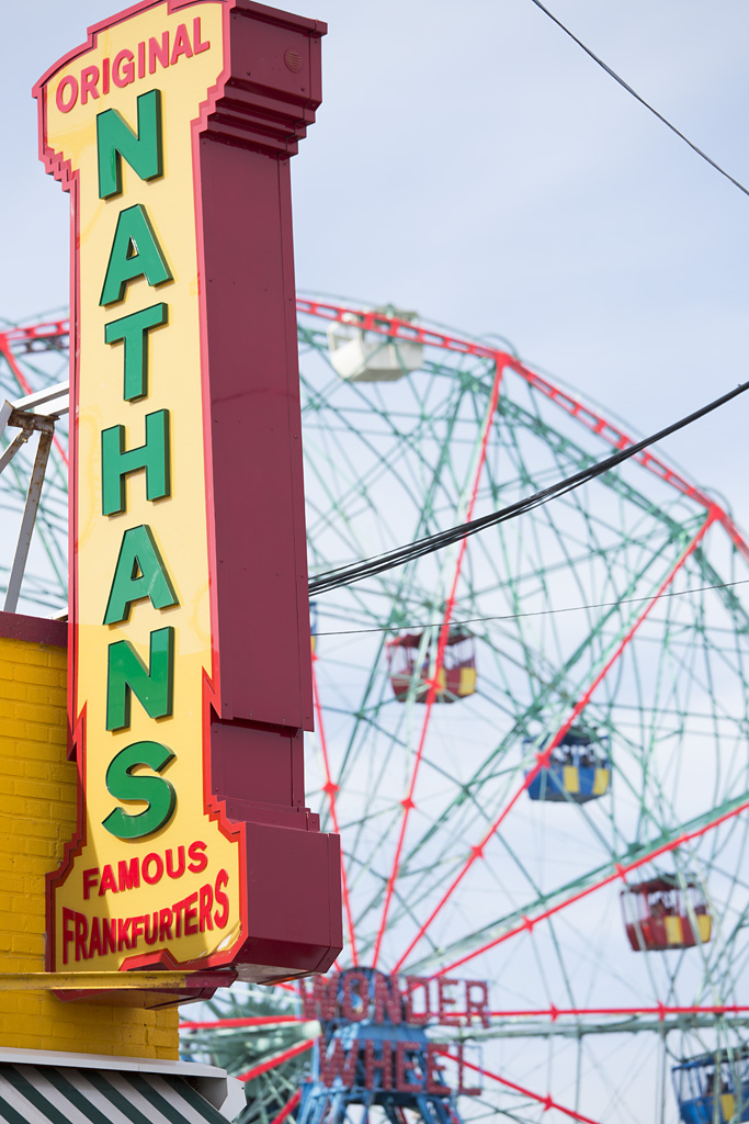 Photo: Nathans Famous, Coney Island Beach, Brooklyn, New York, beach re-opens, memorial day weekend, travel and documentary photography by fashion and pr photographer Margaret ( Maggie ) Yescombe, London UK