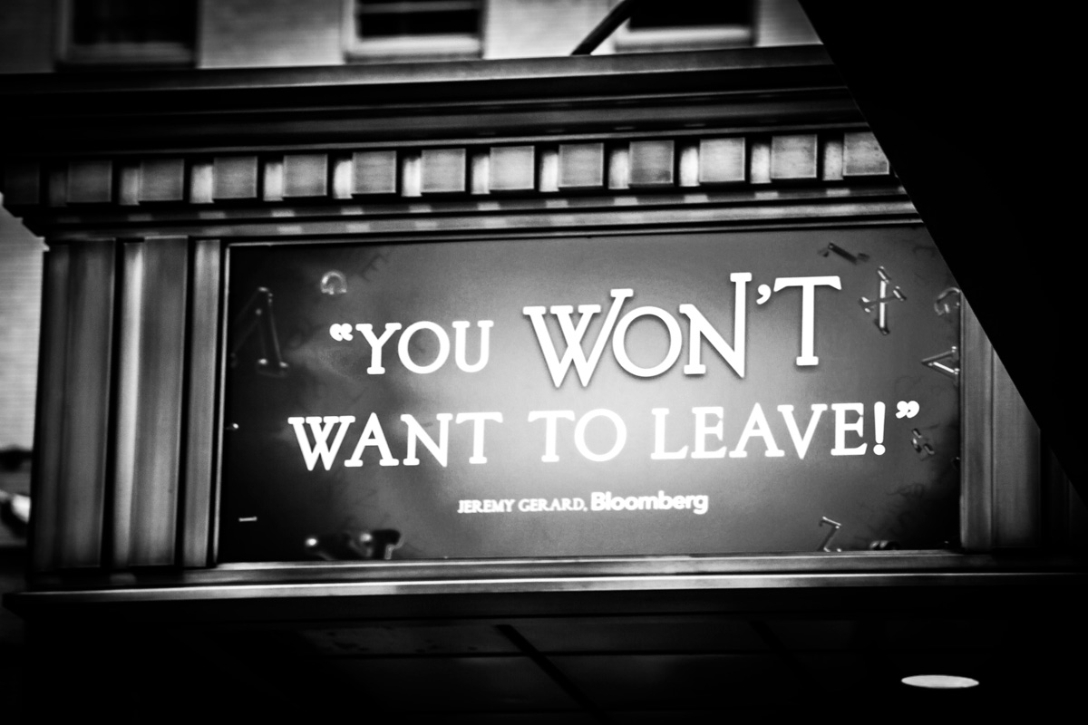 British-Photographer-Margaret-Yescombe-Broadway-photos-Matilda-you-wont-want-to-leave-sign-May-14-1