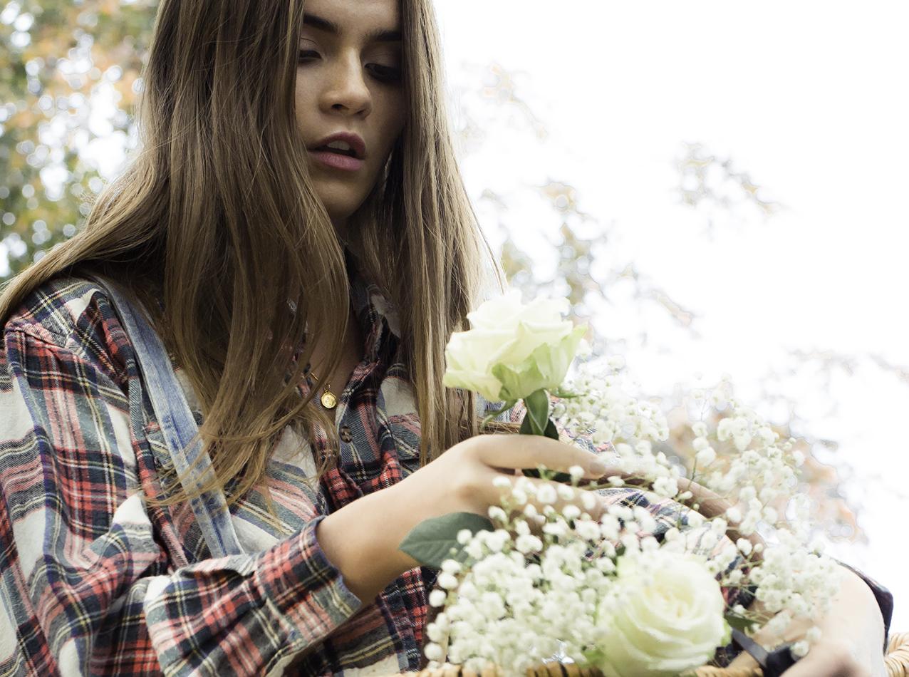 Photo: fashion image by british photographer Maggie Yescombe, countryside romance fashion story, model Naoise Tan, Mua/Hair Christiana Howell