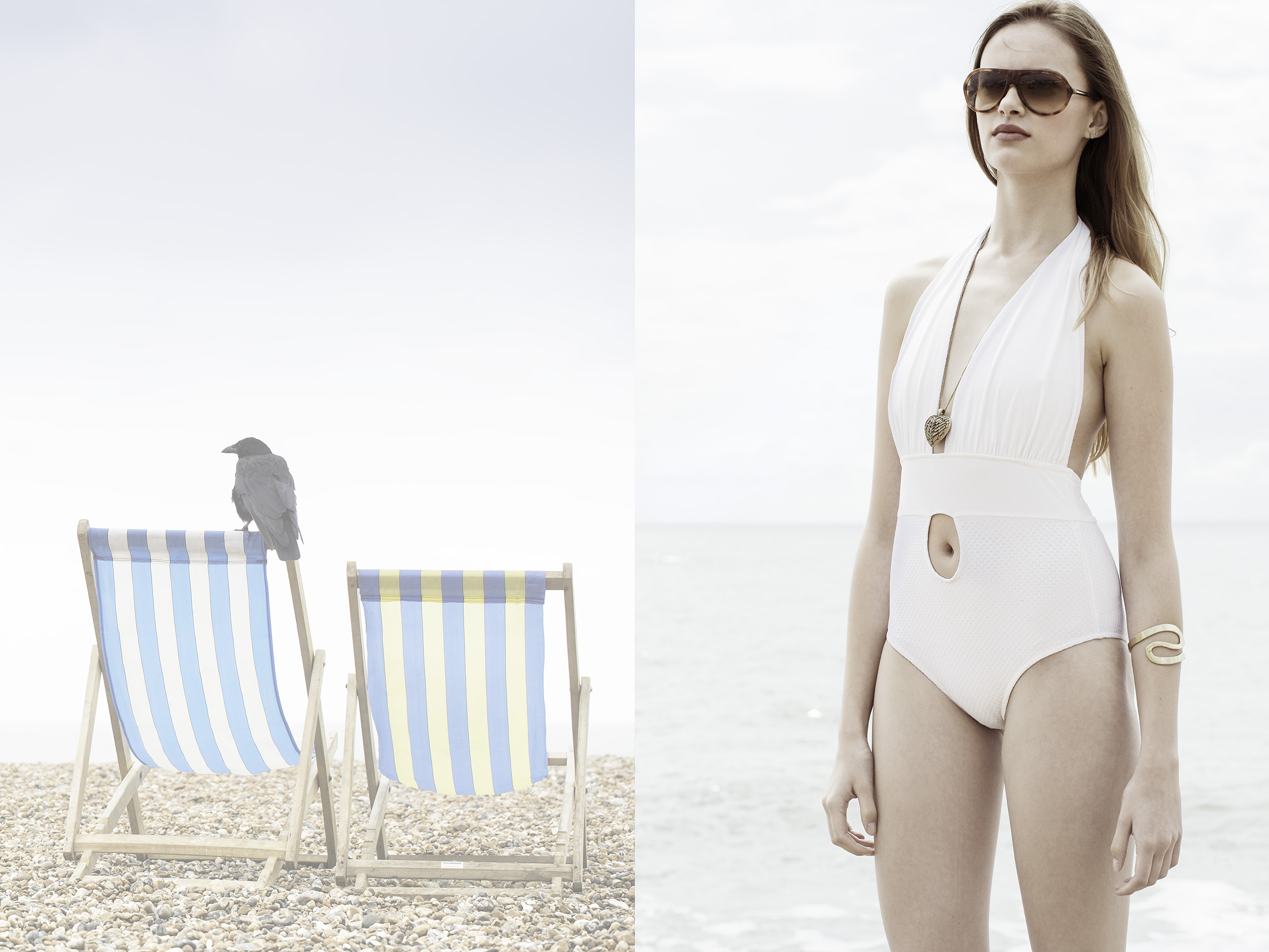 Photo: by London Fashion Photographer Maggie Yescombe, editorial, advertising, designer swimwear collection